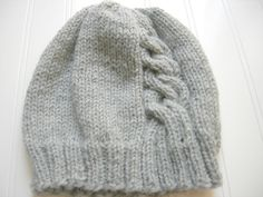Smokey Grey Cabled Hat $24.00 Perfect for Fall