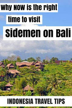 Sidemen on Bali is a beautiful town in the east of the island, in the middle of the rice fields and at the bottom of Agung volcano. It's very little touristic and called the Ubud of 15 years ago. Read on my blog why NOW is the time to go to Sidemen, before mass tourism will appear here.