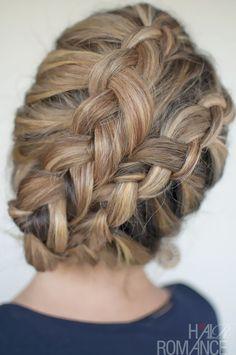 the double dutch diagonal braids // Hair Romance