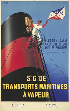 "elevenacres: ""Travel Poster "" Poster Ads, Advertising Poster, Poster Prints, Nautical Artwork, Vintage Boats, Boat Art, Art Deco Posters, Bus Travel, Book Cover Art"