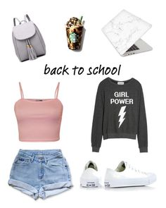 """""""Time for School"""" by addisonraewest on Polyvore featuring Recover, WearAll, Dream Scene, Levi's and Converse"""
