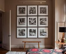 Art grouping - huge impact grouped like this! Diy Wall Art, Wall Decor, Gallery Wall Layout, Gallery Walls, Wall Colors, Decoration, Entryway Decor, Living Spaces, Interior Design