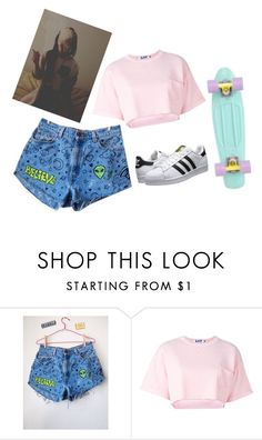 """•journal entry•"" by empty-goldd ❤ liked on Polyvore featuring Steve J & Yoni P and adidas Originals"