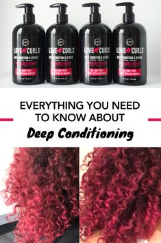 How to Deep Condition Curly Hair Curly Hair Routine, Curly Hair Tips, Curly Hair Styles, Natural Hair Mask, Natural Hair Tips, Natural Hair Styles, Low Porosity Hair Products, Hair Porosity, Dry Damaged Hair