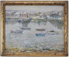 """""""Rockport in Winter,"""" Charles S. Kaelin, oil on canvas, 22-1/8 x 28-1/8"""", private collection."""