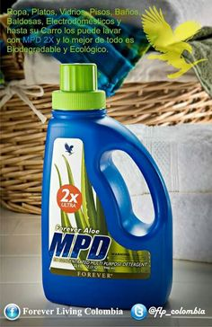 This bottle is a cleaning powerhouse like you've never seen. Use Forever Aloe MPD® for laundry, floors, bathrooms and even hand-washing dishes. This all-around household cleaner lifts grime, cuts through grease and removes stains. Forever Aloe, Forever Living Aloe Vera, Clean9, Forever Living Business, Forever Living Products, Laundry Detergent, Detergent Bottles, Aloe Vera Gel, How To Clean Carpet