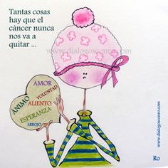 """Ilustración dedicada al día del cáncer de mama"""" """"Tantas cosas hay que el cáncer nunca nos va a quitar"""" www.dialogosconro.com"""