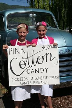 When life hands you cancer...sell pink cotton candy...a great fundraiser idea for Breast Cancer Awareness