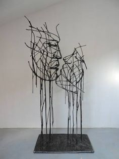 "Saatchi Art Artist Michele Rizzi; Sculpture, ""Love beyond time ( metal color )"" #art"