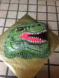 T - Rex Birthday Cake, by T's Sweet's Dinosaur Cake, Avocado Toast, Birthday Cakes, Cake Ideas, Cupcakes, Sweets, Cupcake Cakes, Gummi Candy, Candy