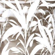 collections - meadow reed - white on silver mylar