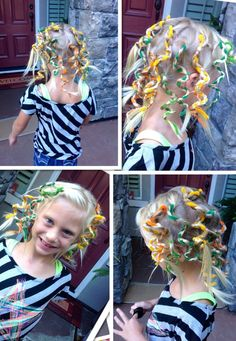 kids hair with pipe cleaners - Google Search