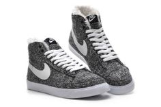 Fresh grey nike shoes are suitbale for outdoor activities.