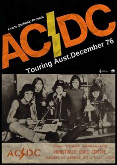 Rare Mini Print/Poster - Size: A4 (Approximately: 21 cm x 29.7 cm) 8.27 inches x 11.7 inches. Rock Posters, Band Posters, Music Posters, Bon Scott, Metallica, Rock And Roll, Hard Rock, Concert Rock, Ac Dc Rock