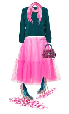 Tulle skirt by amisha73 on Polyvore featuring moda, Topshop, P.A.R.O.S.H., Manolo Blahnik and Burberry