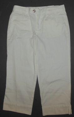 16.82$  Watch here - http://vivwu.justgood.pw/vig/item.php?t=x1h8x121781 - NWT White Capri Pants 4 Average Front Zip Cotton Spandex Christopher & Banks 16.82$