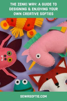 Simple to sew felt toys for kids. Easy Sewing Projects, Sewing Projects For Beginners, Projects For Kids, Crafts For Kids To Make, Gifts For Kids, Kids Patterns, Felt Toys, Sewing For Kids, Softies