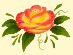 Inspiration for my one stroke rose face painting: one stroke folkart roses