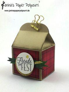 jpp - Baker´s Box / Goodie / Christmas / Weihnachten / Verpackung / Stampin' Up! Berlin / baker´s box / Leckereien Box / Lagenweise Kreise / Drauf und Dran / DSP Gemütliche Weihnachten  www.janinaspaperpotpourri.de