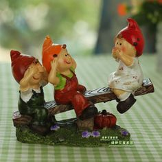Home accessories decoration rustic small accessories resin doll crafts furnishings decorations