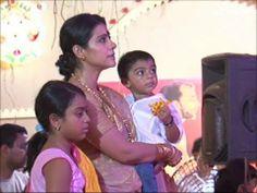 Kajol with her kids Nysa and Yug at Durga pooja pandal.