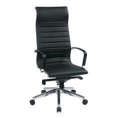 Executive Eco Leather Chair with Built-in Headrest