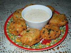Frituras de Malanga - Malanga fritters with Aioli dip.
