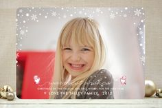 #36. Let it Snow by Melissa Egan from Portland, OR. Announcing @Minted #Holiday2012 design challenge winners.
