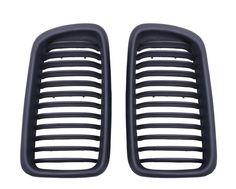 For BMW E38 4D Sedan Matte Black Kidney Grills Front Grille 1995-2001 Car Styling Grilles C/5 #Affiliate