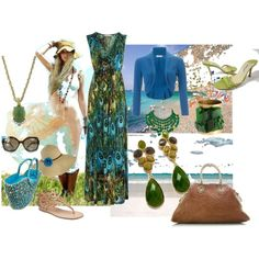 From Beach to Dinner, created by lori-skinner-azevedo on Polyvore