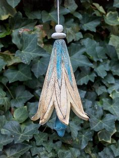 Elfen-Glocke~Keramik-Unikat~Garten-Dekoration~Ton. Front solar lanterns