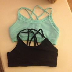 Forever 21 Sports Bra Bundle Cross back sport bras in black and mint green. In great condition. Forever 21 Intimates & Sleepwear Bras