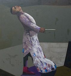 "Juss Piho, ""Talented person"" 160x150 oil on canvas 2015 on ArtStack #juss-piho #museumweek"
