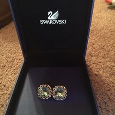 Swarovski earrings Great deal !!!!! Very pretty light green color Swarovski earrings. Comes with box.. Only worn once. Nothing wrong with them. Swarovski Jewelry Earrings