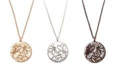 Cassia necklace in gold, silver, or bronze