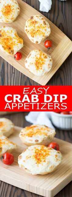 Hot, creamy crab dip, broiled until golden and bubbly! Serve this easy crab dip appetizer on mini buns or with crackers for scooping | Kitchen Gidget