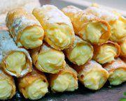 Recetas de canutillos faciles rellenos de crema | Qué Recetas