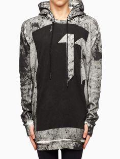 Dirty snow hoodie from the F/W2015-16 Boris Bidjan Saberi 11 in black