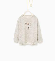 Image 1 of Glitter crown sweatshirt from Zara