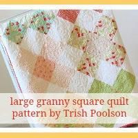 Quilting: large granny square quilt pattern