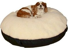 Snoozer Round Pillow Pet Bed Cream Snoozer with Fur Small Olive >>> Check this awesome product by going to the link at the image. (This is an affiliate link) #DogBedsDIY