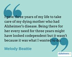 Being a dedicated caregiver is a choice that many gladly take on with love and pride, just as Melody Beattie did. Read more inspirational posts.