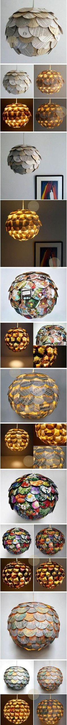 Recycled lampshade with recycle paper