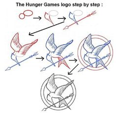 How to draw a mockingjay.