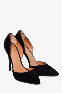 Nasty Gal Avenue d'Orsay Pump - Black - Shoes | Pumps