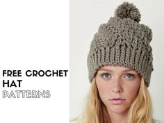Make a crochet hat or two with one of these free crochet hat patterns >>