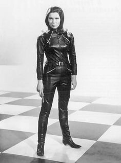 Diana Rigg as Emma Peel in the British 1960s adventure television series The Avengers