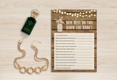 How Well do you know the Bride, Rustic Bridal Shower Games - pinned by pin4etsy.com