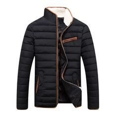 2016 Newest Mens Brand Solid Winter thick cotton Jacket Men Stand Collar Fashion Quality Parka Men Overcoat Mens Winter Coat, Winter Jackets, Moda Men, Menswear, Mens Fashion, Parka Men, Outfits, Jacket Men, Cotton Jacket