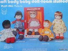 1970 Play Pal Plastics with dolls to mimic Fisher Price dolls
